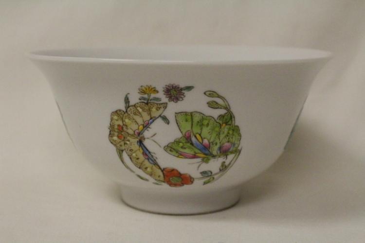 Chinese famille rose bowl, Qianlong mark