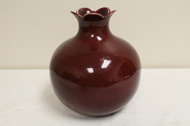 Chinese red glazed porcelain jar