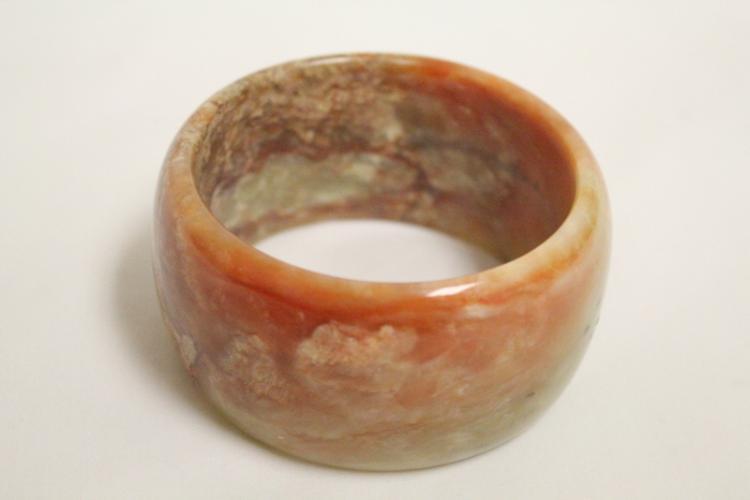 Chinese celadon jade carved bangle bracelet