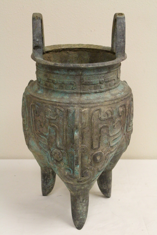 A massive Chinese archaic style bronze ding