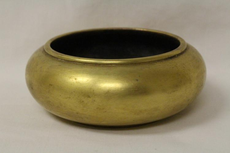 A very heavy Chinese gilt bronze censer