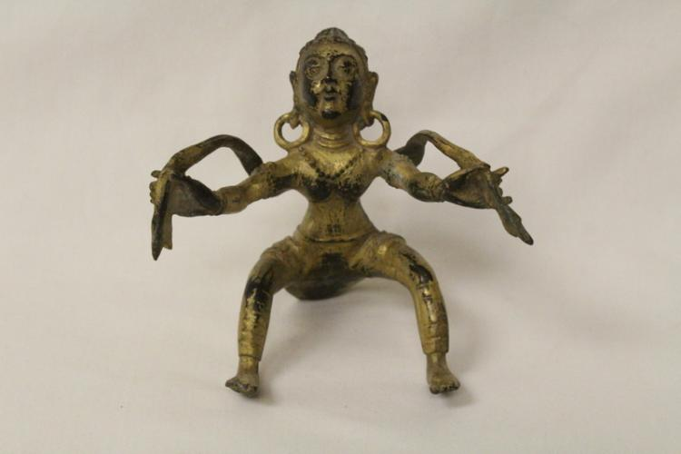 South Asia gilt bronze Buddha statue
