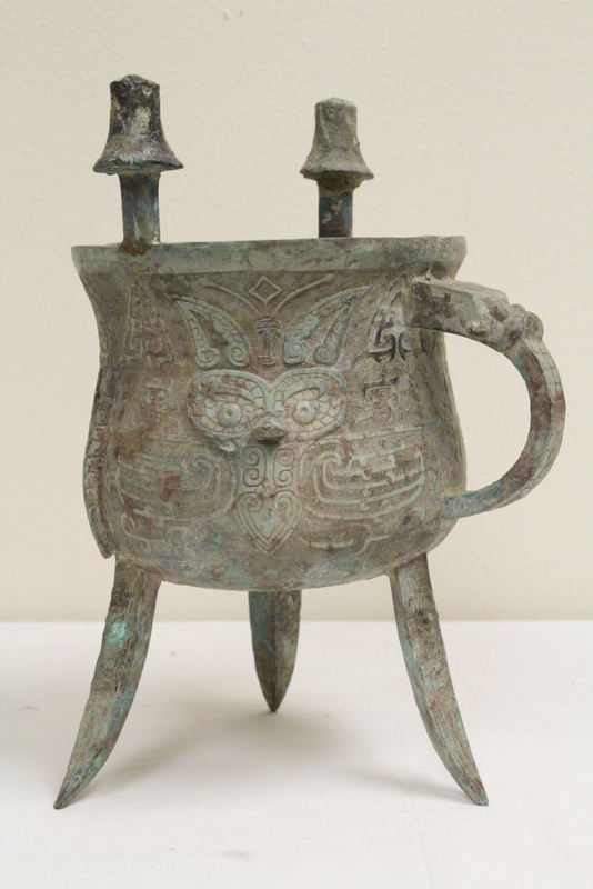 Chinese large archaic bronze ding