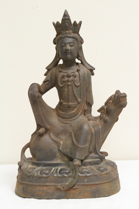 Large Chinese cast iron sculpture