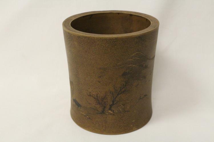 Chinese Yixing clay brush holder