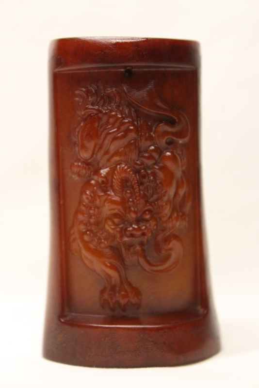 Bone carved miniature vase