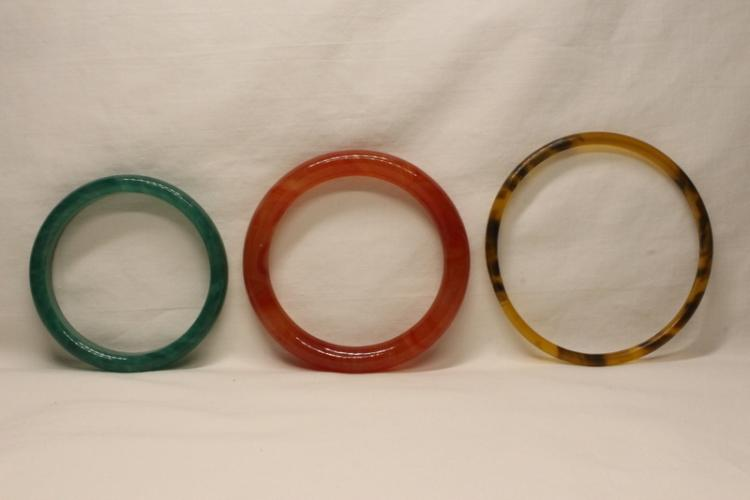 3 bangle bracelets