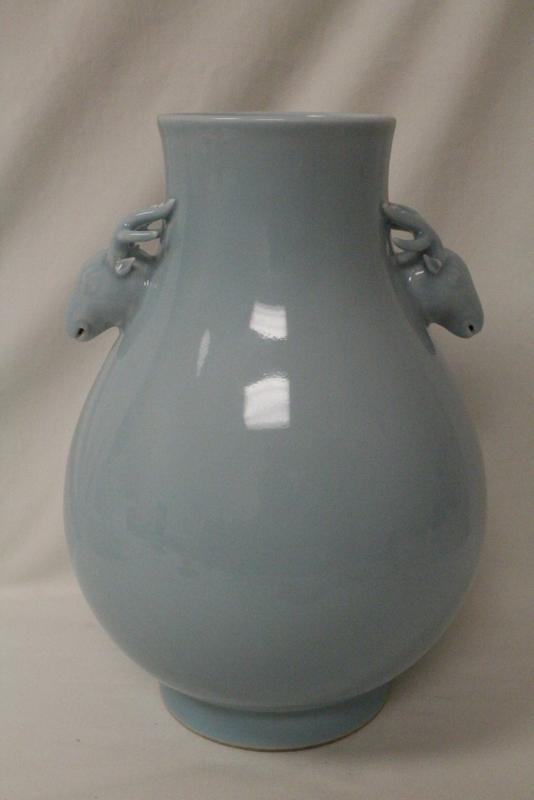 Chinese sky blue porcelain jar