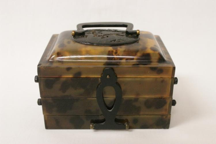 Chinese antique tortoise shell box