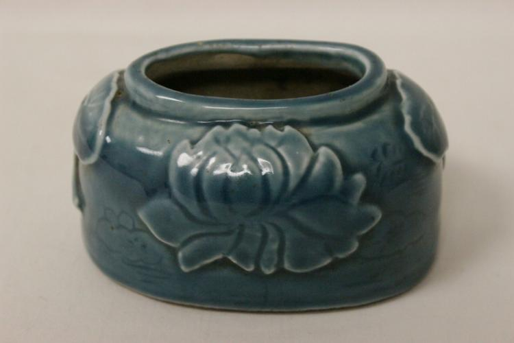 Chinese blue glazed water dripper