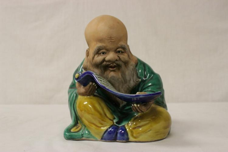 Chinese wucai porcelain Daoism god