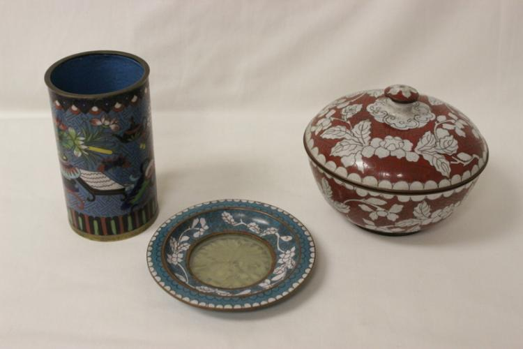 3 pieces of cloisonne