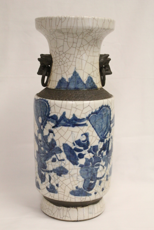 Chinese crackle ware vase