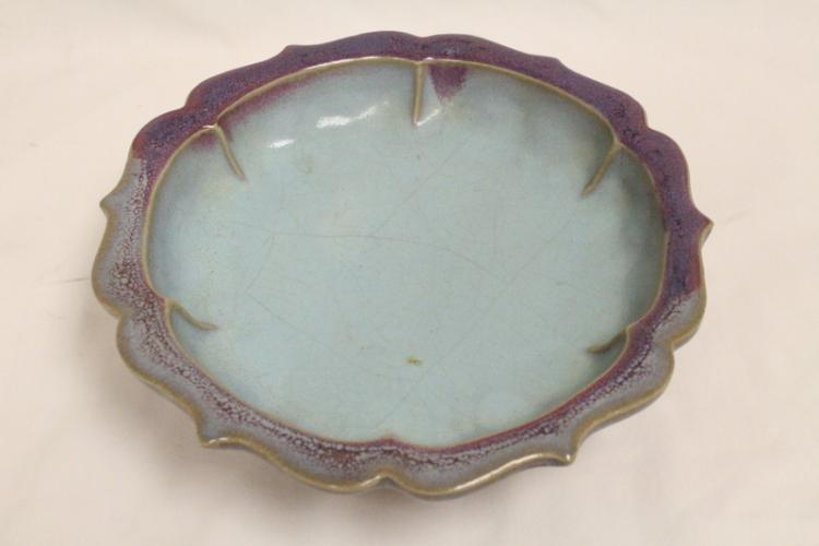 Song style bowl with fluted edge