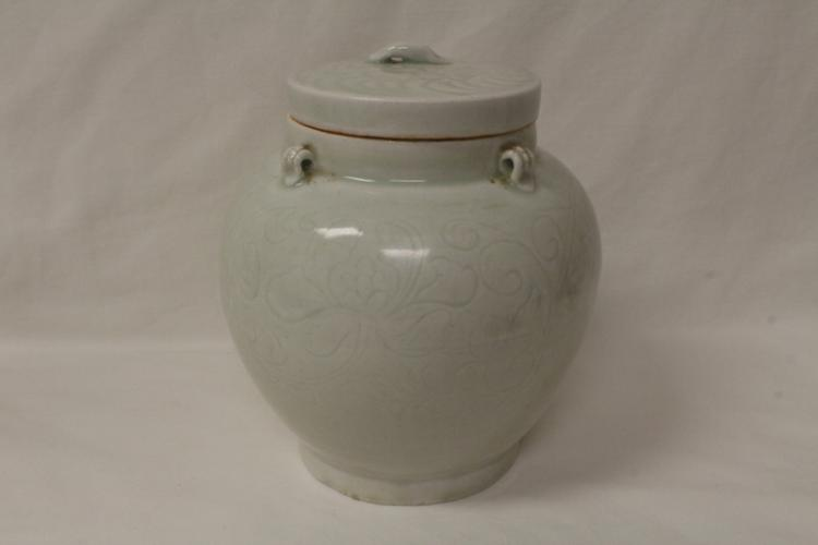 Song style porcelain covered jar