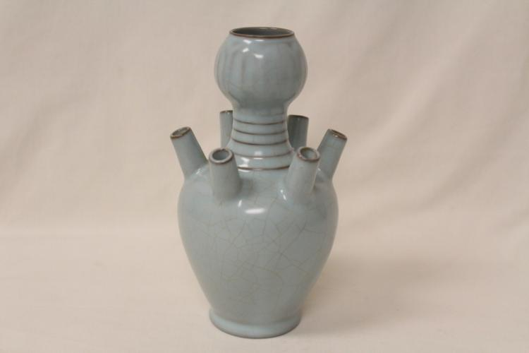 Chinese Song style vase with 6 holes