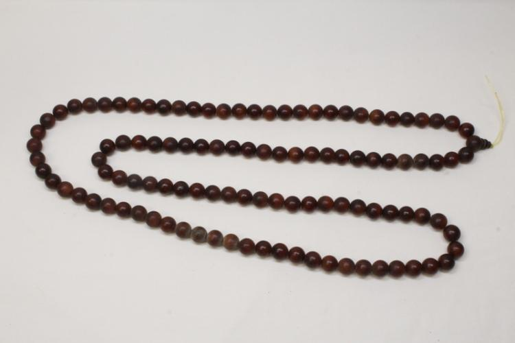 Chinese horn bead necklace