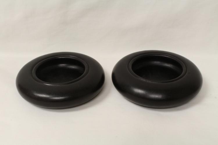 2 rosewood small bowls