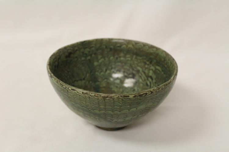 Marble glazed bowl