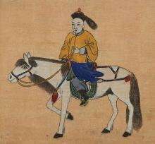 Mongolian Painting of a Horseman
