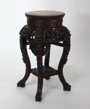 Wood Marble Top Table