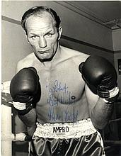 AUTOGRAPHS: BOXING: Selection of signed postcard