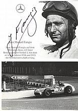 AUTOGRAPHS: FANGIO JUAN MANUEL: (1911-1995)