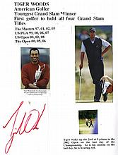 AUTOGRAPHS: GOLF: A modern ring binder containing