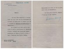 FRENCH POLITICS: Selection of A.Ls.S. and a T.L.S., by various French Ministers, Diplomats, Politicians, Activists etc., most from the early 20th century, in French, comprising Antonin Dubost, Gaston Doumergue, Philippe Berthelot, Camille Pelletan, Francois-Desire Mathieu, Lucien Saint, Denys Cochin, Alexandre Millerand, Joseph Caillaux and Raymond Poincare. With light age wear, otherwise G to VG, 10
