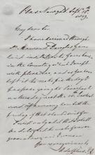 BRITISH ROYALTY: Prince Adolphus (1774-1850) Duke of Cambridge, son of King George III. A.L.S., Adolphus, two pages, 8vo, Plas Newydd, 15th September 1849, to Thomas B. Horsfall. The Prince states that he has received his correspondent's invitation through Sir Howard Douglas and accepts with pleasure the opportunity to stay at Horsfall's country home, further suggesting the following Tuesday to Friday as a convenient time. In a lengthy postscript the Prince reassures Horsfall that he would be very pleased to make the acquaintance of any other guests his correspondent wishes to invite at the same time. With blank integral leaf, Accompanied by the original envelope hand addressed by the Prince and signed ('Cambridge') by him to the lower left corner. The stamp has been neatly torn away although the red wax seal to the verso is still intact; Prince George (1819-1904) Duke of Cambridge, grandson of King George III and cousin of Queen Victoria. Commander-in-Chief of the Forces 1856-95. A.L.S., George, three pages, 8vo, Kew, 5th September 1855, to Mr. Horsfall. The Prince thanks his correspondent for their kind letter and adds that he has also received one from the Mayor of Liverpool, further proposing 'that you should permit me to dine with you on the Wednesday' ahead of a concert in the evening, and also remarking that the Mayor had been good enough to suggest a quick dinner and that the Prince thinks Horsfall's house can be easily reached; Prince Arthur (1850-1942) Duke of Connaught and Strathearn, son of Queen Victoria. Ink signature ('Arthur') and three additional words in his hand on a slim oblong 12mo card; John Neale Dalton (1839-1931) English Clergyman, Chaplain to Queen Victoria, Canon of Windsor and tutor to the future King George V and his brother Prince Albert Victor. A.L.S., J N Dalton, one page, 8vo, n.p., 29th October 1883, to Mr. Ronald. Dalton enquires if his correspondent can dine with Prince Edward in his rooms on 2nd November at 7.30pm. With blank int