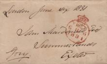 BRITISH PRIME MINISTERS: A selection of signed pieces, Free Front envelope panels and complete envelopes by various British Prime Ministers including George Canning, Earl of Liverpool, Earl of Derby, Lord John Russell, Viscount Palmerston, Viscount Melbourne, Marquess of Salisbury, William Gladstone etc. With some duplication. A few are laid down and with some minor faults and age wear, G, 18