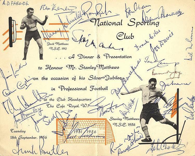 MATTHEWS STANLEY: (1915-2000) English Footballer.
