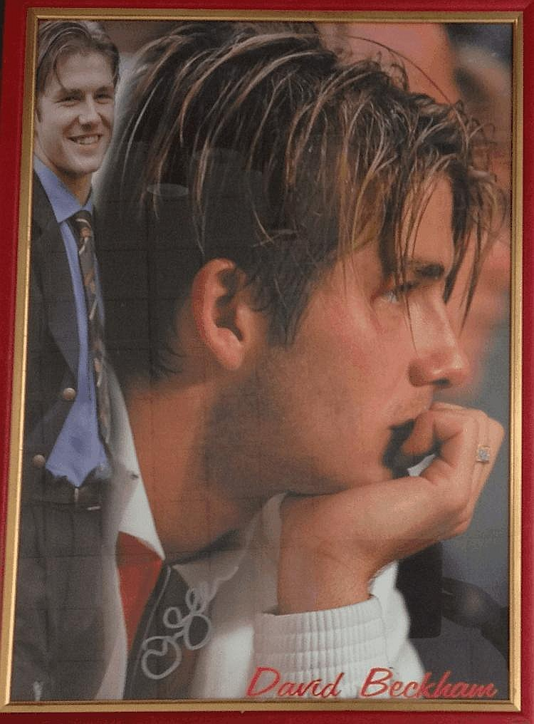 BECKHAM DAVID: (1975- ) English Footballer. A
