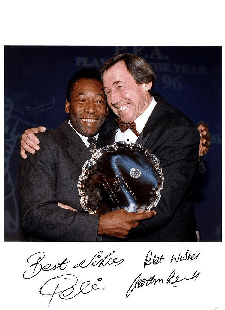 PELE (1940- ) Brazilian Footballer & BANKS GORDON