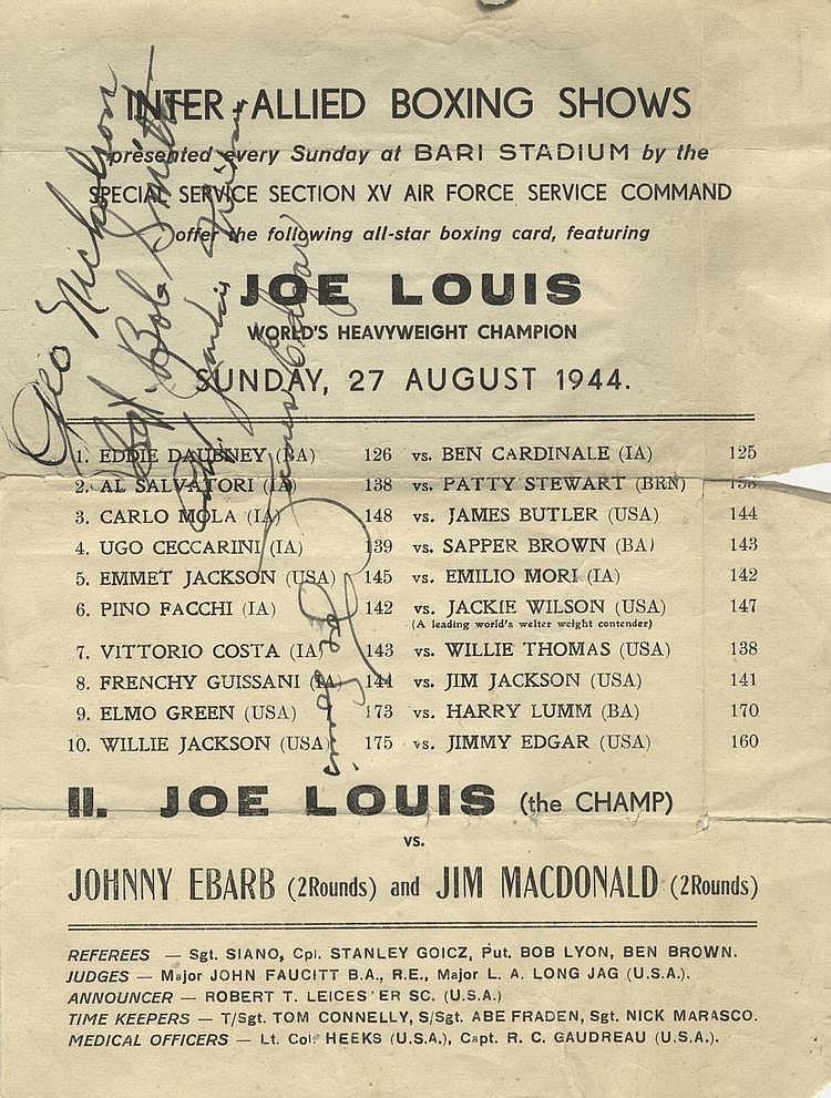 LOUIS JOE: (1914-1981) American Boxer, World