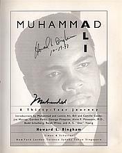 ALI MUHAMMAD: (1942-2016) American Boxer, World Heavyweight Champion. Book signe