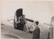 JOHNSON AMY: (1903-1941) English Pioneer Aviatrix. A good vintage signed 8 x 5.5