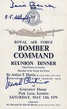 BOMBER COMMAND: A good printed 8vo menu for the Royal Air Force Bomber Command R