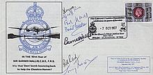 617 SQUADRON: A good Commemorative cover issued in the 90th year of Barnes Walli