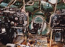 BOCKSCAR: A colour 11 x 8 photograph depicting the interior of the cockpit of th