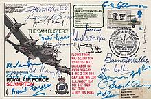 DAMBUSTERS THE: An exceptional multiple signed Commemorative cover issued by the