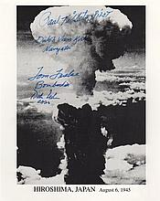 ENOLA GAY: Multiple signed 8 x 10 photograph by four crew members of the Enola G