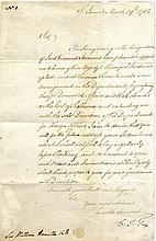 FOX CHARLES JAMES: (1749-1806) British Statesman.  L.S., C. J. Fox,