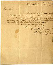 WASHINGTON GEORGE: (1732-1799) American President 1789-97.  A.L.S.,