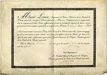 MARIE LOUISE: (1791-1847) Duchess of Parma. Austrian Archduchess, the secon