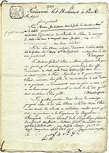 The marriage contract of Leon Aune, Napoleon's  'brave comrade'