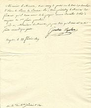 MURAT JOACHIM: (1767-1815) Marshal of France, brother-in-law of Napoleon Bo