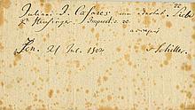 SCHILLER FRIEDRICH: (1759-1805) German Poet and Philosopher.  An ex