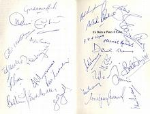 CRICKET: Selection of signed hardback editions by