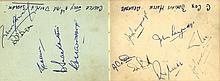 CRICKET: An autograph album containing over 35